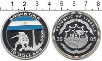 Изображение Монеты Либерия 10 долларов 2005 Серебро Proof-