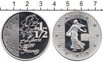 Изображение Монеты Европа Франция 1 1/2 евро 2003 Серебро Proof-