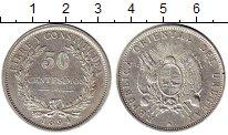 Изображение Монеты Южная Америка Уругвай 50 сентесим 1894 Серебро XF