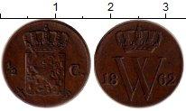 Изображение Монеты Нидерландская Индия 1/2 цента 1862 Медь XF