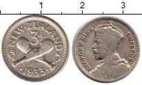 Изображение Монеты Австралия и Океания Новая Зеландия 3 пенса 1933 Серебро VF