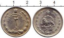 Изображение Монеты Азия Иран 2 риала 1975 Медно-никель XF