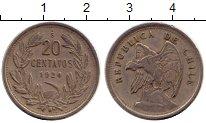 Изображение Монеты Южная Америка Чили 20 сентаво 1924 Медно-никель XF