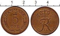 Изображение Монеты Европа Дания 5 эре 1970 Бронза XF