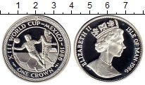 Изображение Монеты Остров Мэн 1 крона 1986 Серебро Proof-