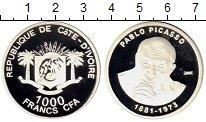 Изображение Монеты Кот-д`Ивуар 1000 франков 2006 Серебро Proof