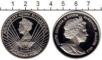 Изображение Монеты Южная Америка Сендвичевы острова 2 фунта 2012 Серебро Proof