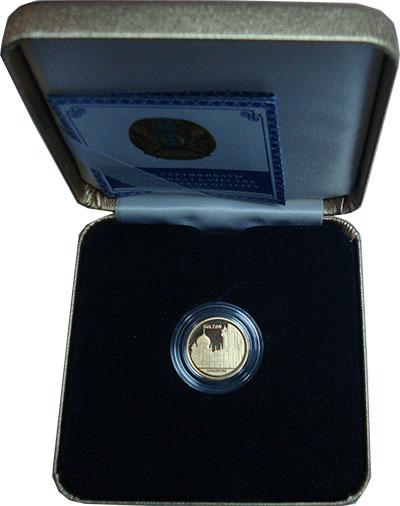 Изображение Подарочные монеты СНГ Казахстан 500 тенге 2010 Золото Proof