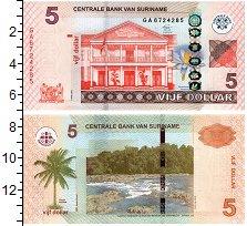 Изображение Банкноты Суринам 5 долларов 2012  UNC