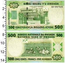 Изображение Банкноты Руанда 500 франков 2008  UNC