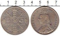 Изображение Монеты Европа Великобритания 2 флорина 1889 Серебро XF-