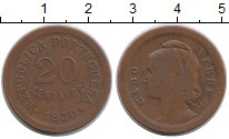 Изображение Монеты Африка Кабо-Верде 20 сентаво 1930 Бронза VF