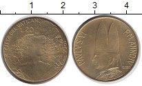 Изображение Монеты Европа Ватикан 20 лир 1966 Латунь UNC-