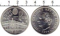 Изображение Монеты Европа Испания 2000 песет 1994 Серебро UNC