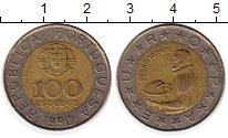 Изображение Монеты Португалия 100 эскудо 1990 Биметалл XF