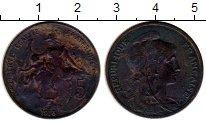 Изображение Монеты Европа Франция 5 сантим 1918 Бронза XF-