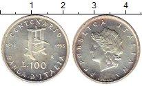Изображение Монеты Италия 100 лир 1993 Серебро UNC-