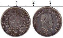 Изображение Монеты Италия 50 сентесим 1863 Серебро XF Виктор Эммануил II,