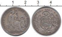 Изображение Монеты Перу 1/5 соля 1906 Серебро VF