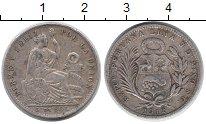 Изображение Монеты Перу 1/5 соля 1912 Серебро VF