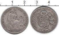 Изображение Монеты Южная Америка Перу 1/5 соля 1911 Серебро VF