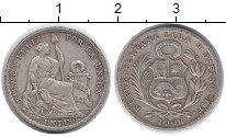 Изображение Монеты Южная Америка Перу 1 динер 1906 Серебро VF