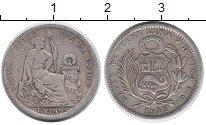 Изображение Монеты Южная Америка Перу 1 динер 1911 Серебро VF