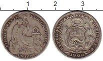 Изображение Монеты Перу 1 динер 1900 Серебро VF