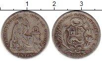 Изображение Монеты Южная Америка Перу 1 динер 1903 Серебро VF