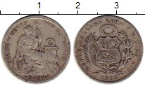 Изображение Монеты Южная Америка Перу 1 динер 1905 Серебро VF