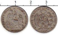 Изображение Монеты Перу 1 динер 1907 Серебро VF