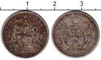 Изображение Монеты Южная Америка Перу 1/2 динеро 1904 Серебро VF