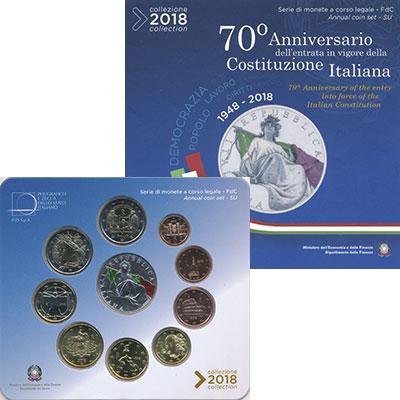 Изображение Подарочные монеты Италия Набор 2018 года 2018  UNC