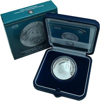 Изображение Подарочные монеты Италия 10 евро 2018 Серебро Proof