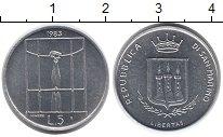 Изображение Монеты Европа Сан-Марино 5 лир 1983 Алюминий UNC