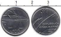 Изображение Монеты Сан-Марино 100 лир 1990 Медно-никель UNC