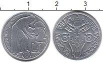 Изображение Монеты Европа Ватикан 1 лира 1975 Алюминий UNC