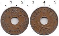 Изображение Монеты Восточная Африка 5 центов 1941 Бронза XF- Георг VI