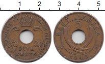 Изображение Монеты Восточная Африка 5 центов 1942 Бронза XF-