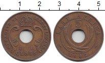 Изображение Монеты Восточная Африка 5 центов 1942 Бронза XF- Георг VI