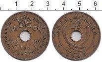 Изображение Монеты Восточная Африка 10 центов 1942 Бронза XF- Георг VI