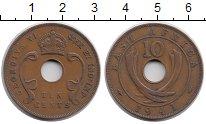 Изображение Монеты Восточная Африка 10 центов 1941 Бронза XF- Георг VI