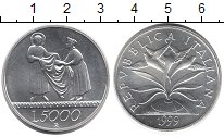 Изображение Монеты Италия 5000 лир 1999 Серебро UNC Святой Фрэнсис