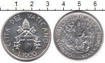 Изображение Монеты Европа Ватикан 1000 лир 1989 Серебро UNC