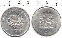 Изображение Монеты Сан-Марино 1000 лир 1978 Серебро UNC- 150 - летие  Л.Н. То