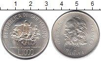 Изображение Монеты Сан-Марино 1000 лир 1978 Серебро UNC-