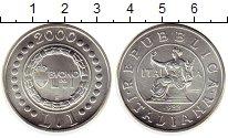 Изображение Монеты Европа Италия 1 лира 2000 Серебро UNC