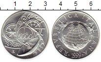 Изображение Монеты Италия 5000 лир 1999 Серебро UNC Миллениум