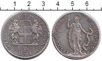 Изображение Монеты Генуя 4 лиры 1797 Серебро XF- Герб Генуи