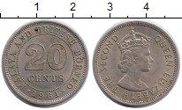 Изображение Монеты Великобритания Малайя 20 центов 1961 Медно-никель XF